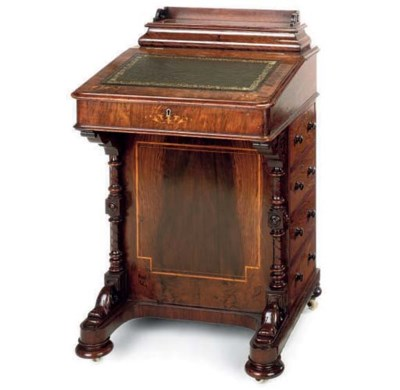 A MID VICTORIAN ROSEWOOD DAVEN