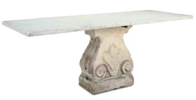 A KETTON STONE TABLE BASE