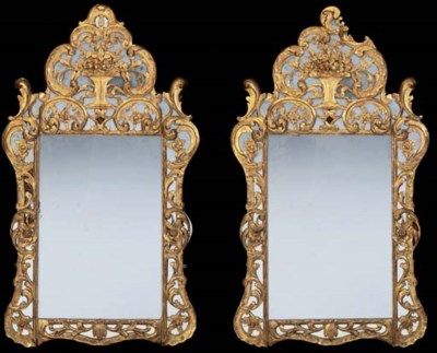 A NEAR PAIR OF GILTWOOD WALL M