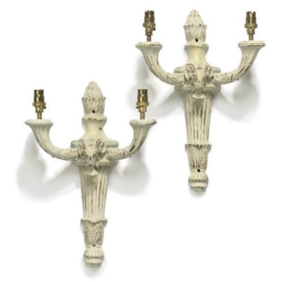 A SET OF WHITE AND GILT-HEIGHT
