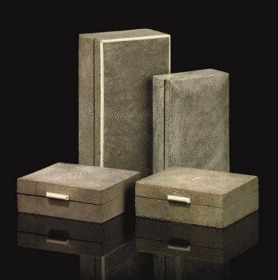 A GROUP OF FOUR SHAGREEN VENEE