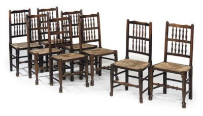 A MATCHED SET OF EIGHT ASH DIN