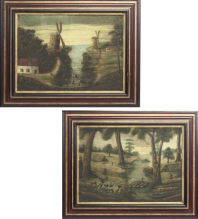 A PAIR OF LANDSCAPE PAINTINGS