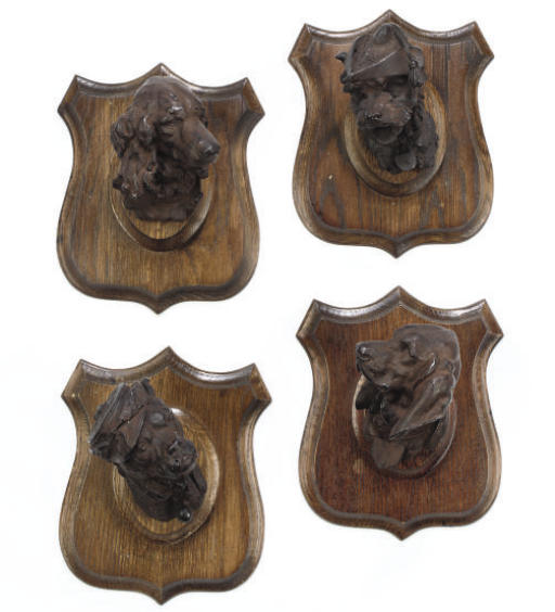 A SET OF FOUR FRENCH LEAD-ALLO