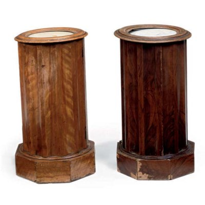 TWO LATE VICTORIAN CYLINDRICAL