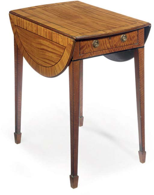 A REGENCY SATINWOOD PEMBROKE T