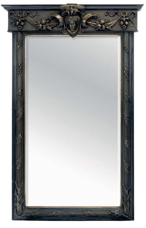 A VICTORIAN EBONISED AND BRONZ