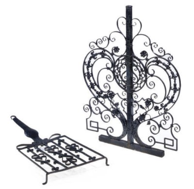 A FRENCH WROUGHT-IRON SCREEN