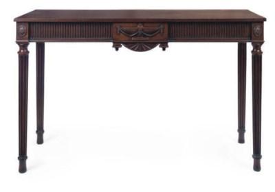 A MAHOGANY SERVING TABLE