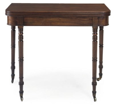 A REGENCY MAHOGANY TEA TABLE