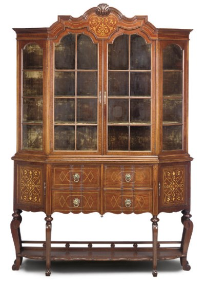 A LATE VICTORIAN MAHOGANY AND