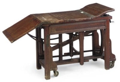 AN OAK EXAMINATION TABLE