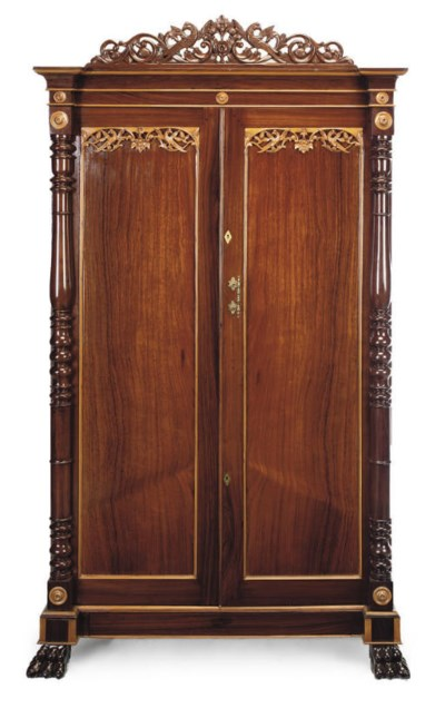 AN ANGLO-INDIAN ROSEWOOD LINEN