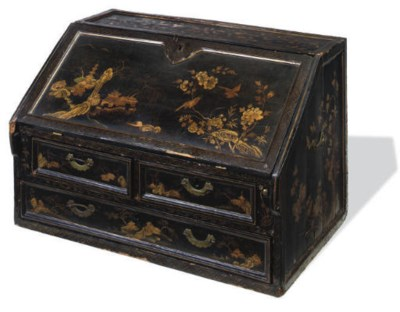 A CHINESE EXPORT BLACK LACQUER