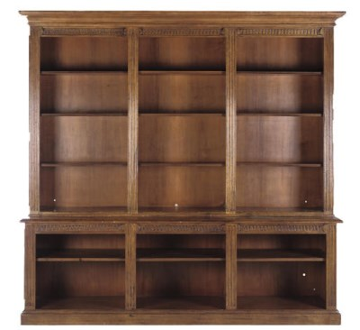 A PAINTED OPEN BOOKCASE