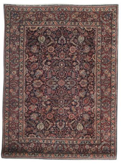 A fine unusual Tabriz rug