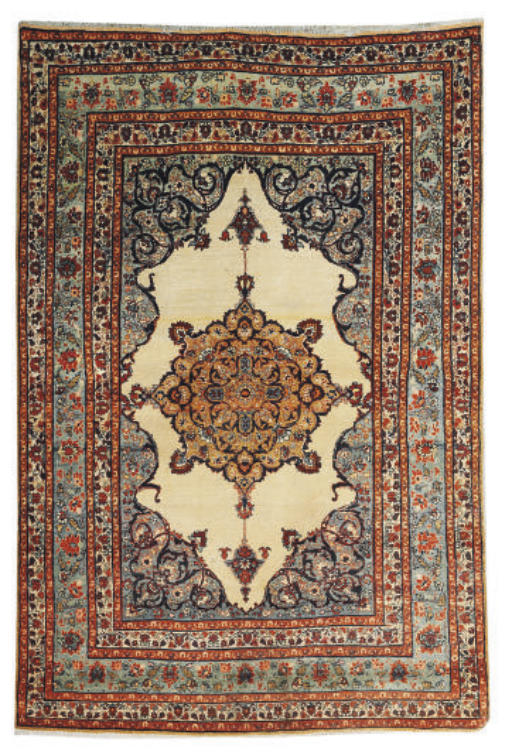 A fine antique Tabriz rug