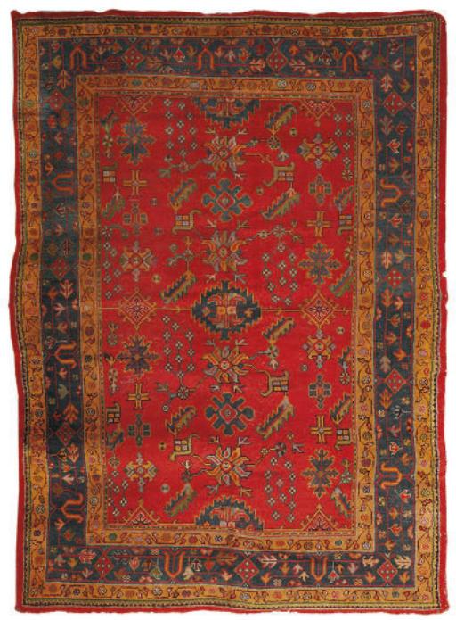 A Ushak small carpet