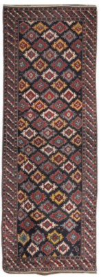 An antique Kuba long rug