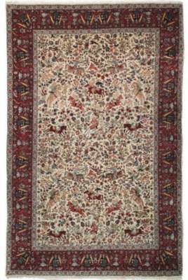 A fine Tabriz small carpet