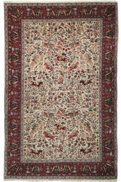 A fine Tabriz small carpet