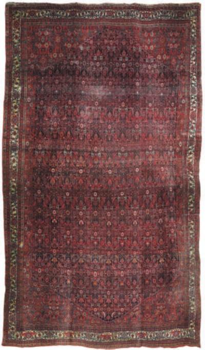 An antique Bijar carpet