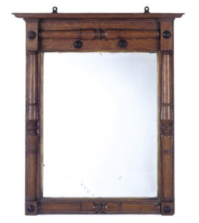 A GEORGE IV OAK PIER MIRROR