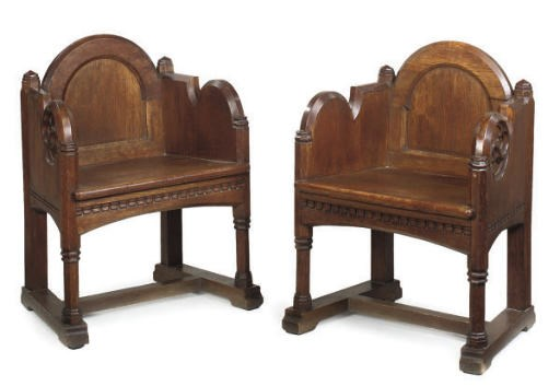 A PAIR OF LATE VICTORIAN OAK T