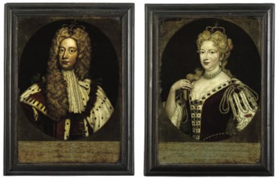 A PAIR OF GEORGE III PORTAIT M