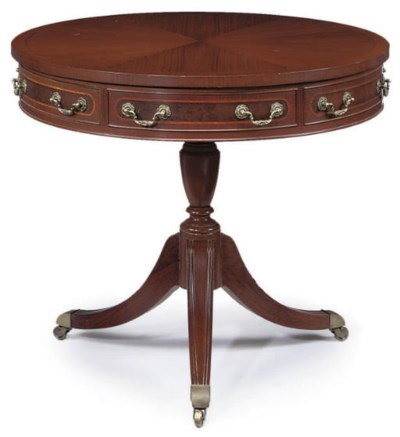 A GREEK MAHOGANY DRUM TABLE