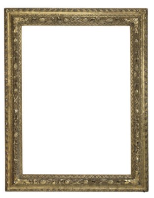 A FRENCH CARVED GILTWOOD FRAME