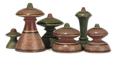 A NORTH INDIAN LACQUERED WOOD