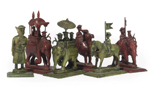 AN INDIAN IVORY 'JOHN COMPANY'