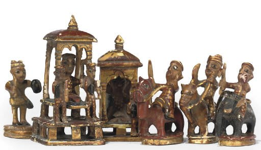 AN INDIAN GILT-HEIGHTENED POLY