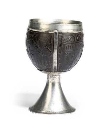 A CONTINENTAL SILVER-MOUNTED C
