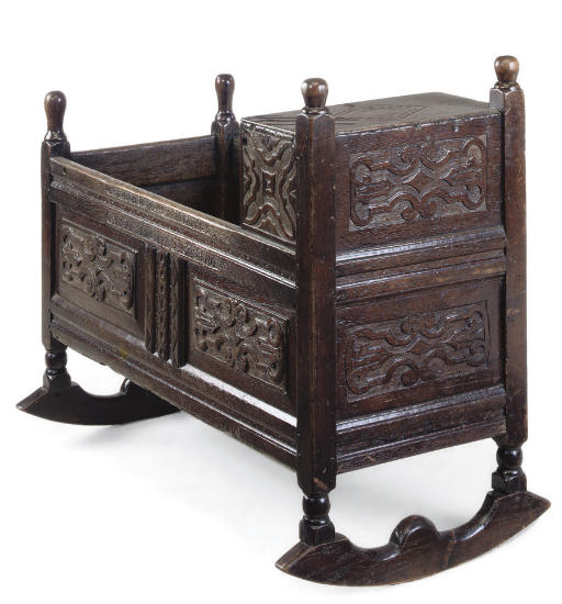AN ENGLISH OAK CRADLE