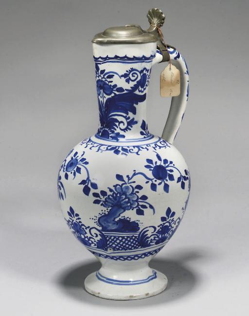 A GERMAN BLUE AND WHITE FAYENC