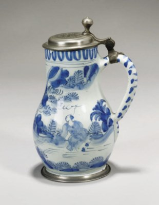 A DUTCH DELFT BLUE AND WHITE P