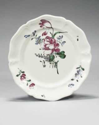 A FRENCH FAIENCE DISH