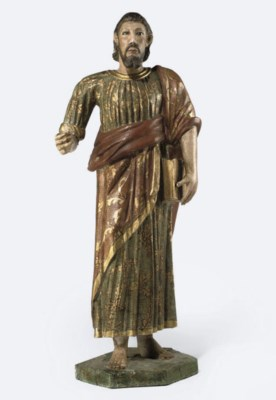 A SPANISH COLONIAL FIGURE OF A