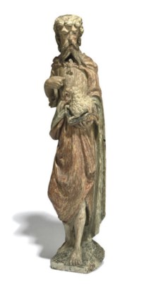 A NORTH-GERMAN CARVED-WOOD AND