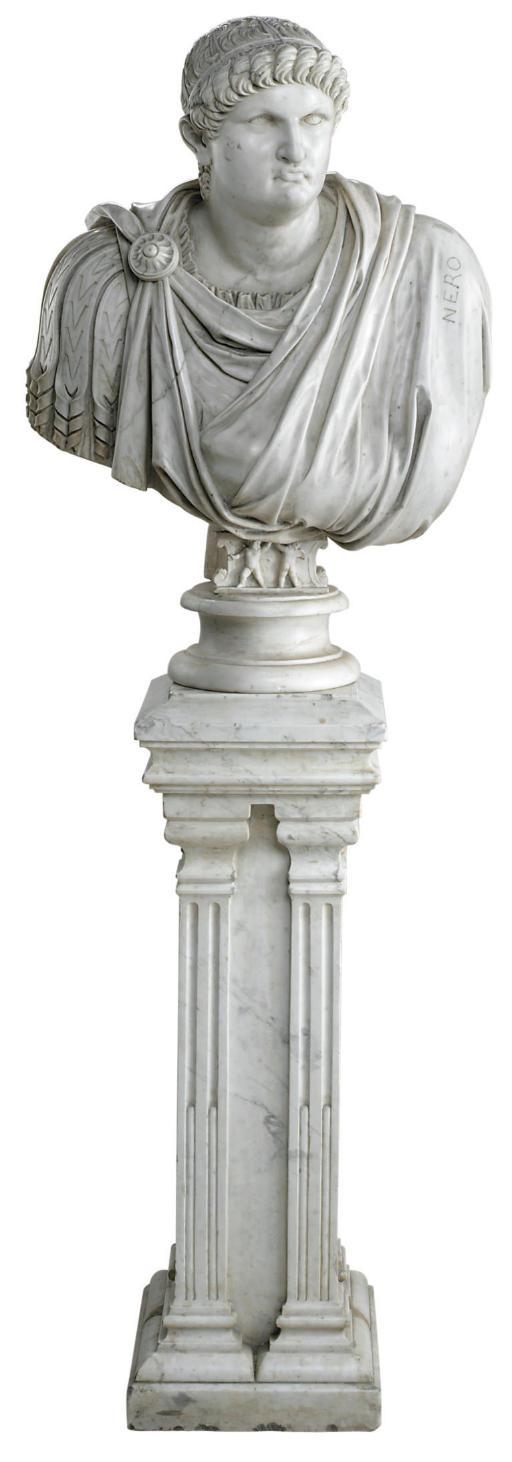 AN ITALIAN WHITE MARBLE BUST O