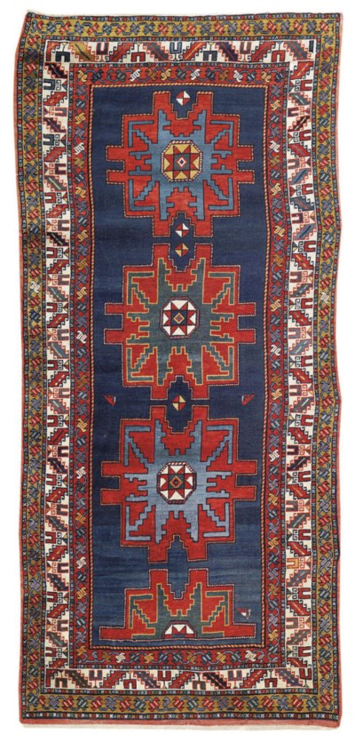 A large South Caucasian rug of