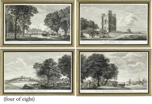 A SET OF EIGHT ENGRAVINGS OF W