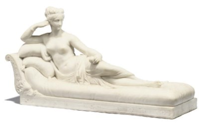 A WHITE MARBLE MODEL OF PAULIN