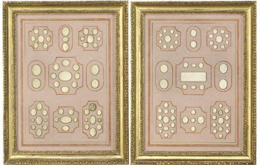 A PAIR OF FRAMED GROUPS OF PLA