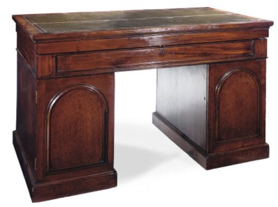 A GEORGE IV MAHOGANY LIBRARY D