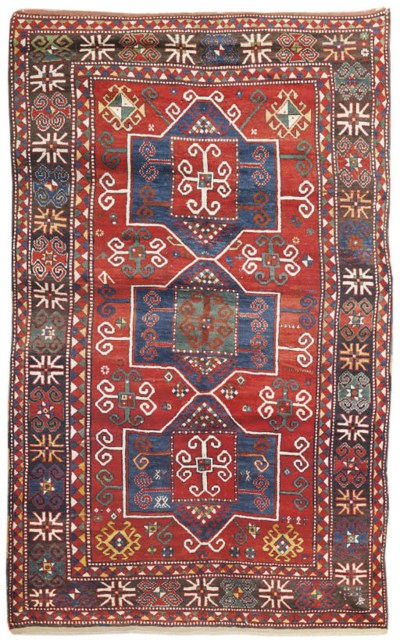 An antique Fachralo Kazak rug,