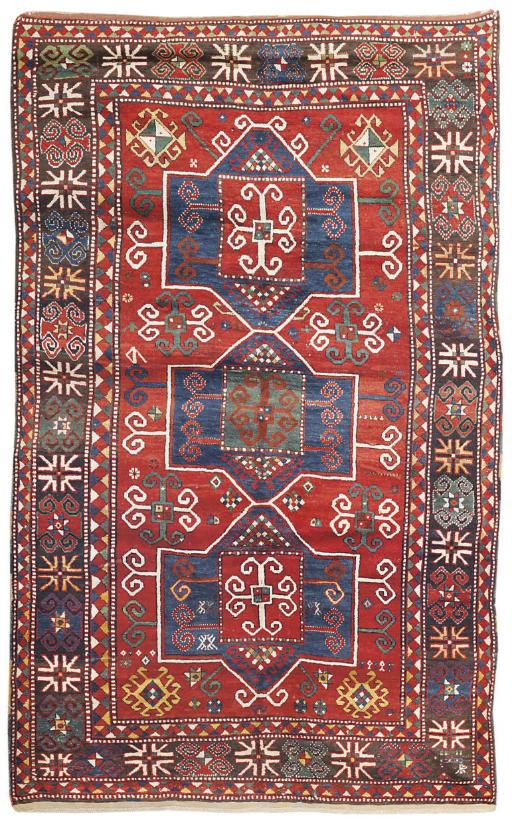 An antique Fachralo Kazak rug, South Caucasus