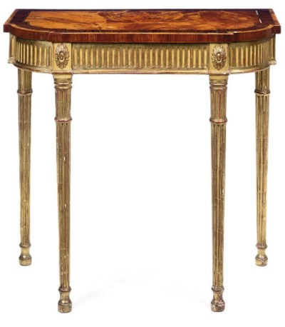 A GEORGE III SATINWOOD AND GIL
